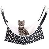 Rolybag Pet cage Hammock,pet Hammock,pet cat Hammock,Soft Plush pet Bed,Suitable for Ferret Cotton Hammock,Guinea Pig,Hamster,Gerbil, cat cage,etc (Dots-Medium Size)