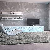 UNIVERSAL Alfombra salón de Pelo Largo Shaggy Aqua Liso Plata 57x110 cm