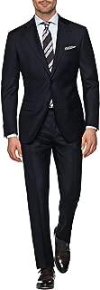 DTI GV Executive Italian 2 Button Men's Wool Suit Jacket Flat Front Pant 2 Piece