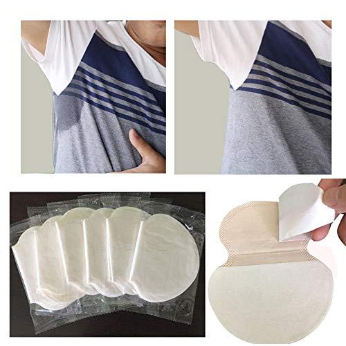 Underarm 20/30 / 50pcs aisselles Sweat Pads pour le joint d'aisselles en plaquettes de sueur absorbant pour les aisselles doublures anti autocollants de survêtement,50 pièces