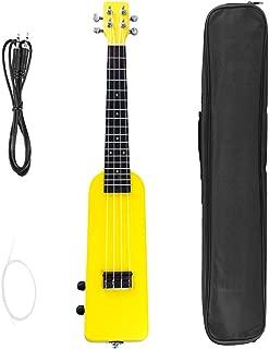 B Baosity 23インチ 電気ウクレレ ギグバッグ ケーブル ウクレレ弦 全3色 - 黄