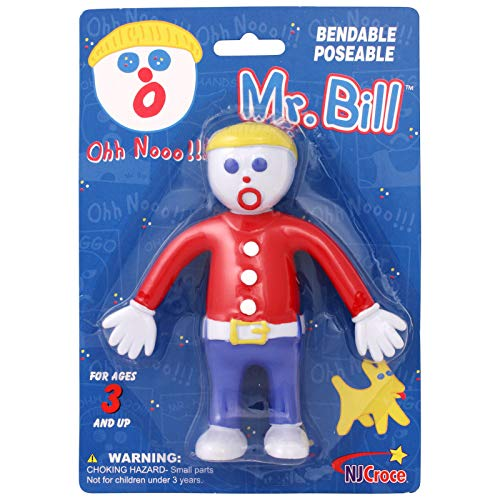 NJ Croce Mr. Bill Bendable Action Figure, Multicolor