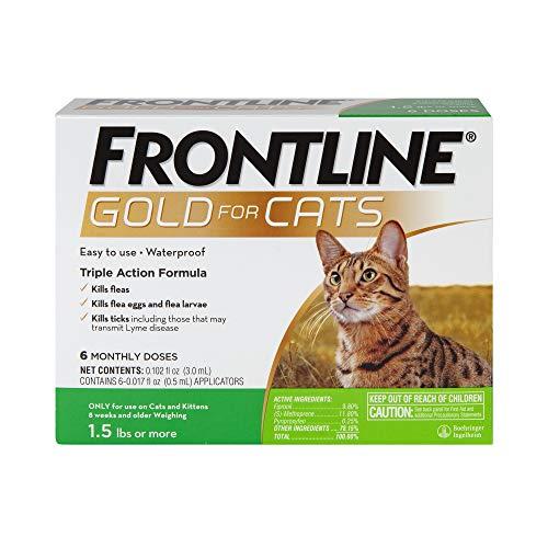FRONTLINE Gold for Cats Flea & Tick Spot Treatment, 6ct