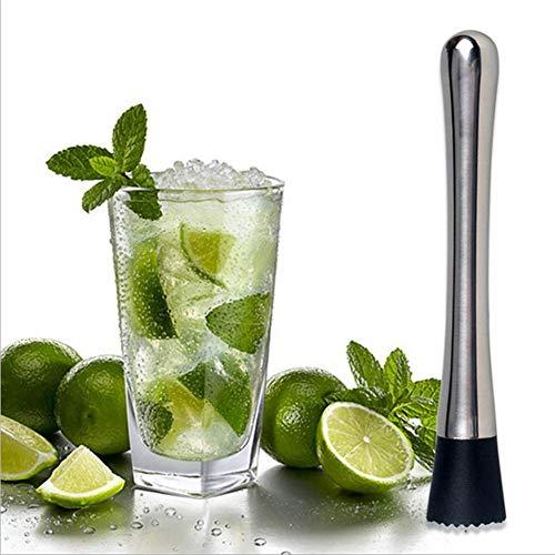 HUVE Pilon à Cocktail Acier Inoxydable Mojito pour Glace pilée Marteau Bar Accessoires