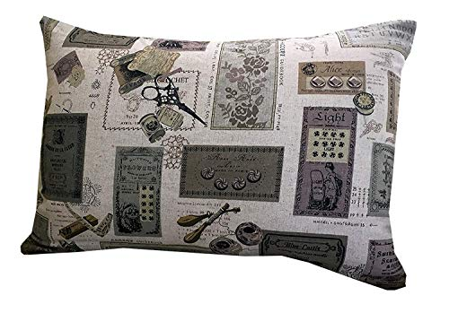 Rétro Conception d'étiquettes Coussin boudoir 45 x 30 cm avec gratuit Polyester intérieure