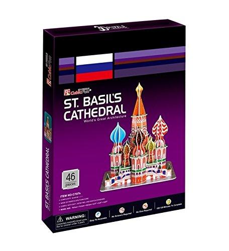 CUBIC FUN C707h - 3D Puzzle Cremlino - Cattedrale di San Basilio - Mosca - Russia