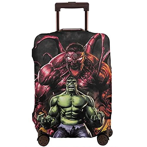 Hulk - Funda protectora para maleta, lavable, diseño de impresión 3D, 4 tamaños para la mayoría de equipaje con cremallera