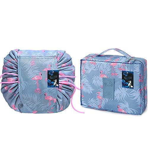 Lasinderm Bolsa de cosméticos portátil bolsa de maquillaje bolsa de viaje neceser organizador para mujeres y niñas