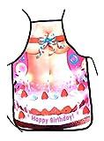 Tinas Collection Tablier de Cuisine Femme Happy Birthday Costume Sexy Tablier de Jardinier Anniversaire