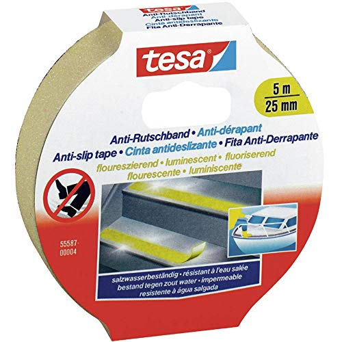 tesa Anti-Rutschband, fluoreszierend, 5m x 25mm