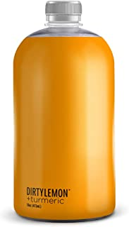 Immunity Tonic with Fresh Turmeric, Pureed Ginger, and Black Pepper, Anti Inflammatory, 15 calories, 1g of sugar, 16 oz (6...