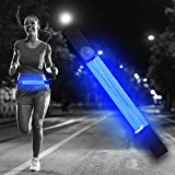 Ultra Blu Cintura a LED Unisex con Marsupio Uomo Donna USB Ricaricabile Porta Cellulare da Corsa Luce Running Poket Marsupio per Running Marsupio Impermeabile Luce per Corsa Notturna Marsupio Corsa