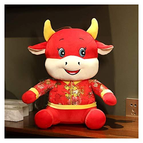 Gästehung Plüschkuh Große Umarmung Kissen Kissen Rot Rinder Spielzeug Weiche Gefüllte Kissen Nette Gefüllte Komfortable Puppe Kissen Spielzeug Kinder Plüsch Spielzeug Geschenk 346 (Farbe: Weiß, Größe: