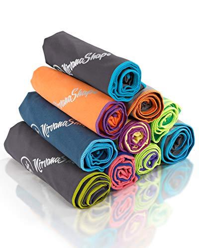 NirvanaShape ® Mikrofaser Handtuch | ideal als Camping-Handtuch & Bade-Handtücher | kompakt, leicht, schnelltrocknend | ideal für Travel, Outdoor, Beach, Camping