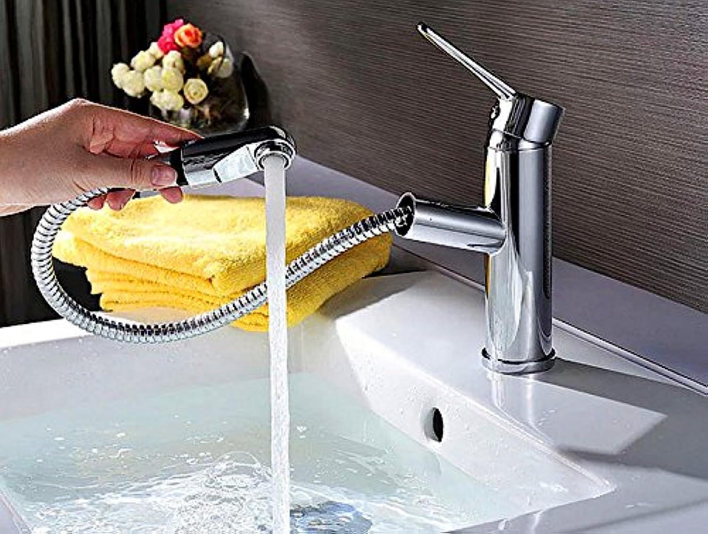 LSRHT Waschtischarmatur bad Wasserhahn Armatur Mischbatterie Waschbecken Badarmatur Kupfer heien und kalten Platz Herausziehen