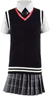 TISEA Womens Girls Peni Parker Schoold Dress Cosplay Uniform