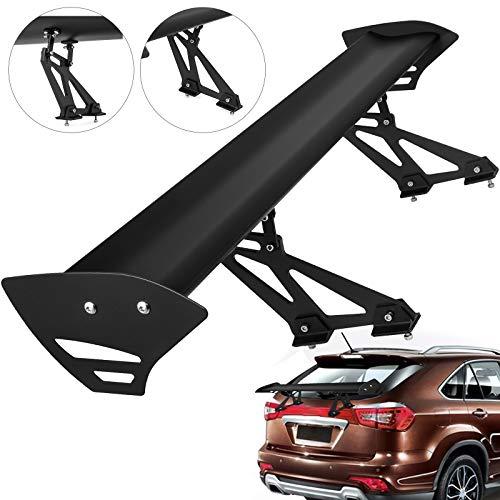VEVOR Universal GT Wing Spoiler 110CM Lightweight Aluminum Rear Spoiler Wing Adjustable Angel 43Single Deck Racing Trunk Spoiler BGW Drift JDM Drift Black Universal Spoiler