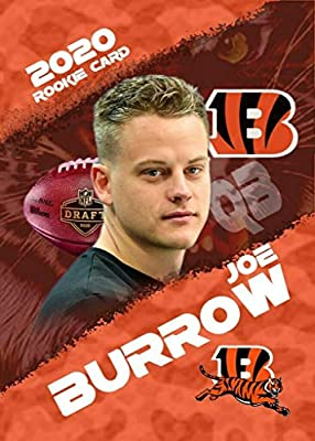 "2020 JOE BURROW Rookie Football Card - Cincinnati Bengals - Custom Made Limited Edition""Rookie Gems"" Novelty Football Card - #1 NFL Draft Pick Joe Burrow"