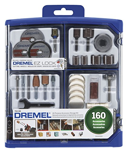 Dremel Rotary Tool Accessory Kit- 710-08- 160 Accessories- EZ Lock Technology- 1/8...