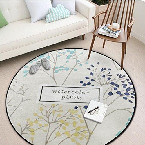 Unbekannt #Wohnzimmerteppich Runder Teppich, Schlafzimmer Wohnzimmer Sofa Couchtisch Otto Erde Matte Yoga Matte Runde Decke Decken (Farbe : #5, größe : 150 * 150cm)