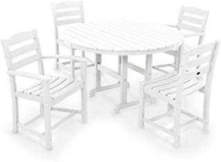 Polywood La Casa Cafe 5-Piece Dining Set in White