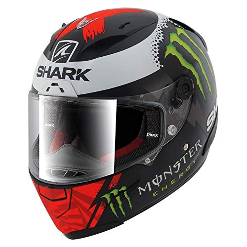 Y'S GEAR SHARK(シャーク) 【正規輸入品】 バイク用ヘルメット フルフェイス RACE-R LORENZO MONSTER MAT Lサイズ(59-60cm)
