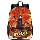 Mochila Infantil 3D Niñas Mochila Ranger Solo: Una historia de Star Wars Han Solo Adecuado para: estudiantes de primaria y secundaria, la mejor opción para viajes al aire libre Tamaño: 45x30x15 cm