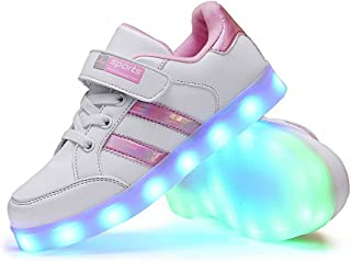 Kids LED Shoes Flashing Sneakers LED lighting shoes LED Lights 7 Colors USB Charge Shoes LED Fashion Shoes USB Charging La...