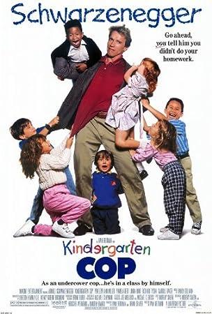 Kindergarten Cop Schwarzenegger Comedy Movie Poster Iron On T-Shirt Transfer A5