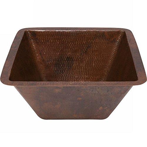 Premier Copper Products Handgefertigte Waschbecken, 38,1 cm, Kupfer gehämmert (Mexico)