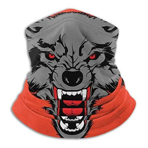 Wolfs Nahtlose Multifunktionstuch Kopfbedeckung Bandana Schal Elastische Tube Magic Stirnband Gaiter Sturmhaube Gesichtsmaske UV Residenz für Yoga Laufen Wandern