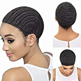 FEEL ME Braided Cap Made for Crochet Braids or Hair Weaves 1 Piece Crochet Braided Wig Caps in Cornrow Sew Hair for Making Wigs Easier Sew In Crochet Wig Caps Medium Size