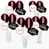 90th Birthday Table Centerpieces for Woman