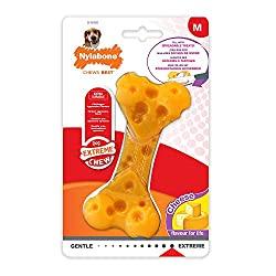 Made with a tough, durable nylon this toy was made with powerful chewers in mind Challenges aggressive chewers, extra durable, long lasting, flavour throughout Tiny bristles raise on the bone during chewing, like a mini toothbrush to help keep teeth ...