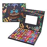 iBaste Paleta de sombras de ojos, 99 colores, con purpurina, paleta de sombras de ojos brasileñas.
