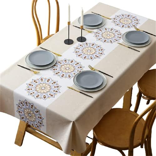 PVC Impermeable, A Prueba De Aceite, Anti-Escaldado Color Sólido Gris Rectangular Hogar Sala De Estar Mantel Fiesta Mantel Cuadrado Restaurante Mantel Redondo Mantel Cafetería Mantel 90x150cm