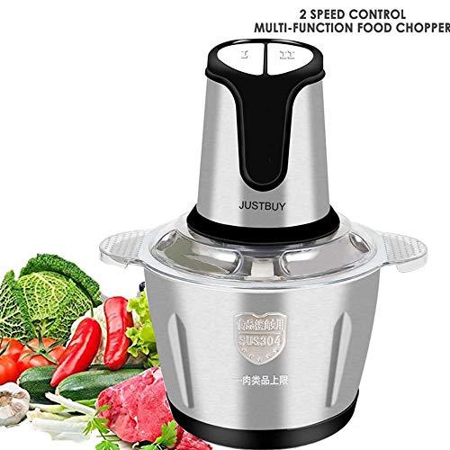 FEZBD Picadora de Carne, Multi-Función 2 Velocidad de Cocina de Acero Inoxidable del hogar máquina de Picar Carne Vegetal Amoladora Cocina Que Cocina la máquina Amoladora de Verduras para Picar Carne