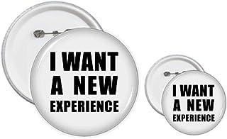 I Want A New Experience Kit de création de boutons et badges