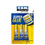 Tekbond Colorless Fast Dry Super Glue (Three 1-Gram Tubes)