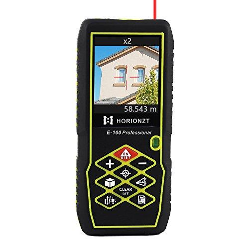 Horionzt 100m/100m telemetro laser telemetro digitale portatile per esterni misuratori di distanza laser metro strumento livella a bolla