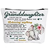 To My Granddaughter Gifts Graduation Gifts for Granddaughter Back to School Gift Granddaughter Gifts from Grandma, Birthday Gifts for Granddaughter Makeup Bag-You're Capable of Achieving Anything