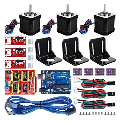 HiSKY 3D Printer CNC Kit,for Arduino GRBL Shield+UNO R3 Board+RAMPS 1.4 Mechanical Switch Endstop+DRV8825 Motor Driver+Nema 17 motor (3D Printer CNC Kit)