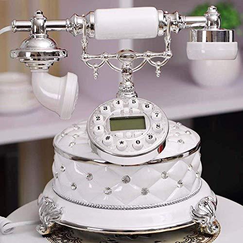 LXYZ Identificador de Llamadas entrantes Teléfono Antiguo Creativo Jardín Sala de Estar Dormitorio Hogar Teléfono Fijo Antiguo Teléfono Antiguo Fijo Teléfono para el hogar Cocina Hotel Oficina