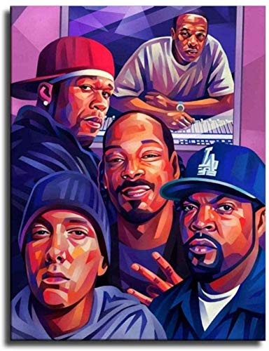 Old School Rap Legends (Rapper Collage) Music Poster PrintWall Art Family Bedroom Decor
