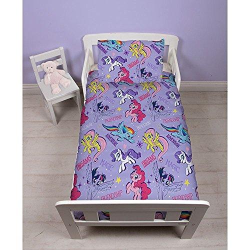 My Little Pony Bettwäsche-Set für Kleinkinder, Polyester-Baumwolle, Rosa, Einzelbett