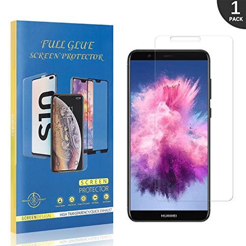 LAFCH Verre Trempé Compatible avec Huawei P Smart 2018 / Huawei Enjoy 7S, Film Protection en Verre trempé Écran pour Huawei P Smart 2018 / Huawei Enjoy 7S, Anti Rayures, sans Bulles Protége écran 1 Pièces