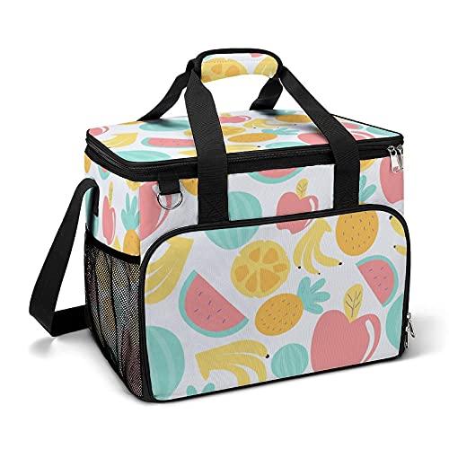 Bolsa térmica térmica portátil a prueba de fugas, diseño de manzanas adecuado para niños y niñas con bolsa y bolsillos laterales de malla, adecuado para picnics escolares o trabajo.