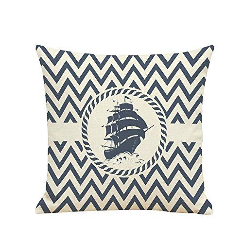 Demarkt–Fundas de almohada Funda de cojín almohada decorativa Sofá almohada almohada No Interior cojín Barco Patrón