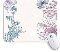 KAPANOU マウスパッド、花畑の美しさが春の花びらに咲く芸術的なグラフィック おしゃれ 耐久性が良い 滑り止めゴム底 ゲーミングなど適用 マウス 用ノートブックコンピュータマウスマット