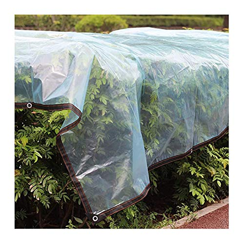 WZNING Lona impermeable transparente con ojales, lona protectora para barco, tela con ojales de 0,13 mm de grosor, para muebles de jardín, piscina, coche, 20 tamaños, duradera y protectora
